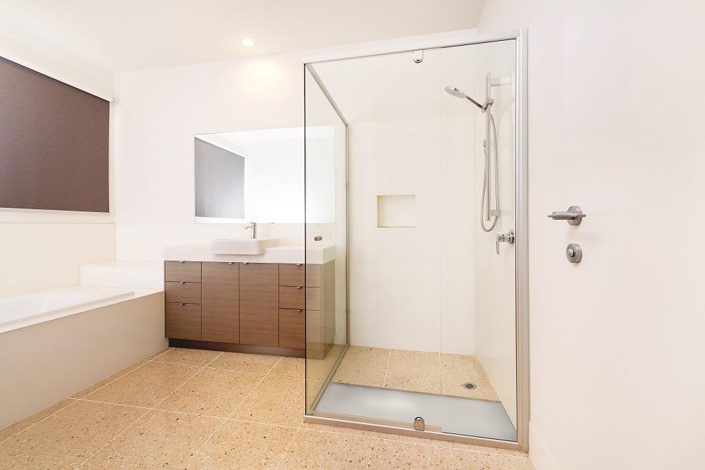 Tile over shower base 3